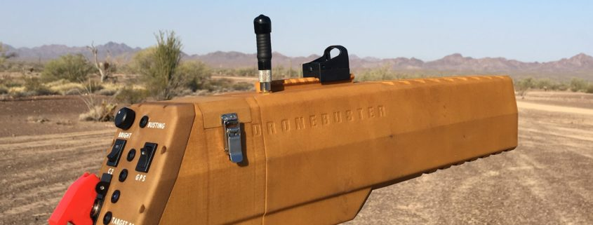 Dronebuster hand-held jammer from Radio Hill Technologies